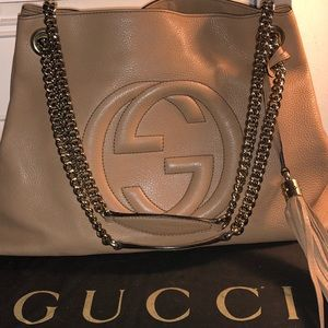 Gucci soho leather shoulder bag pink